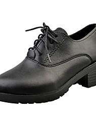 Homme-Décontracté-Noir / Bordeaux-Gros Talon-Talons-Chaussures à Talons-Polyuréthane