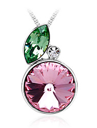 Women's Pendant Necklaces Pendants Crystal Crystal Fashion Green Pink Jewelry Daily Casual 1pc