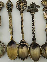 decorativo dulce helado cuchara cucharada pequeña varilla de agitación cucharaditas de estilo vintage (tipo aleatorio)