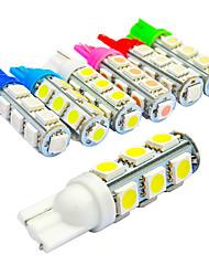 10pcs Jiawen / lot t10 135lm 1.6W 13x5050smd para lâmpada de carro (DC12V)
