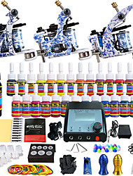 Solong Tattoo Complete Tattoo Kit 3 Pro Machine s 28 Inks Power Supply Needle Grips Tips