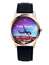 мода женские часы завтра письмо экзотическое аналоговые кварцевые наручные часы