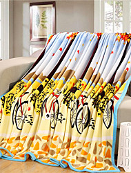 Bicycle Fleece fabric blanket summer comforter Air conditioning throw winter soft bedsheet