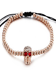 kalen®bracelet bracelet de style de punk crâne de charme de halloween / don quotidien de bijoux en or rose, 1pc