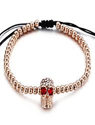 kalen®bracelet charme pulseira estilo punk skull halloween / presente da jóia diária ouro rosa, 1 peça