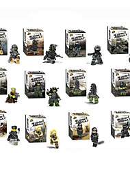 12piece/lot Wraith Assault Minifigures Block Bricks Series Plastic Models Building Toy For Kids Scale Models