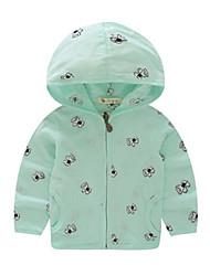 Casual/Dagelijks-Geometrisch-Katoen-Zomer-Girl's-Kostuum & Blazer-Groen / Wit