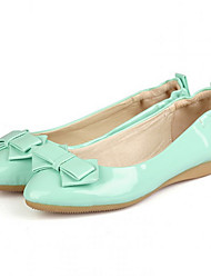 Women's Shoes  Spring / Summer / Fall Ballerina / Pointed Toe Flats Casual Flat Heel Bowknot Green / Pink