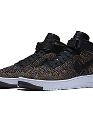 Nike Air Force 1 Ultra Flyknit Mid Men's Running Shoes Nike Air Force One Mid Flyknit Skateboarding Sport Shoes Brown