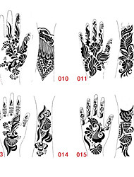 1Pcs Tattoo Templates Hands/Feet Henna Tattoo Stencils for Airbrushing Professional Mehndi New Body Painting Kit