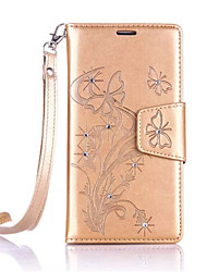 Butterfly Flower Diamond Flip Leather Cases Cover For One Plus 3 Strap Wallet Phone Bags