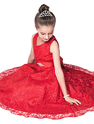 Red/Navy Wedding Bridesmaid Dress Children Girls /Summer Evening Party Princess Lace Ball Gown for Girl Kids/Teenager