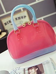 Women PVC Casual / Outdoor Shoulder Bag Pink / Blue / Green / Gold