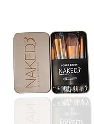Makeup Brush Set Tin 12 Makeup Brush
