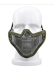 Outdoor self-defense equipment wire protector half face protective mask mask in many sports field equipment