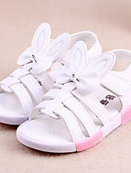 Girls' Shoes Casual   Sandals Summer Comfort / Open Toe Flat Heel Bowknot White