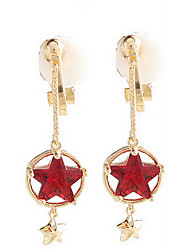 Earring Flower Drop Earrings Jewelry Women Fashion Daily / Casual Alloy 1pc Gold