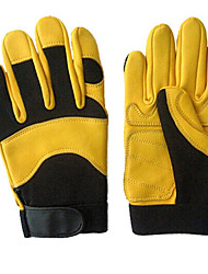 L Code Yellow Deerskin Gloves Motorcycle Riding Sports