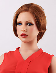 cabelo humano chique impressionante frente curta peruca reta