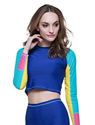 SBART® Mulheres Roupas de mergulho Mergulho Skins Resistente Raios Ultravioleta Compressão Tactel Fato de Mergulho Manga CompridaRoupas