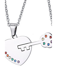 Necklace Pendant Necklaces / Pendants Jewelry Daily / Casual Fashionable Titanium Steel Silver 1 pair Gift