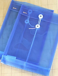 Blue Transparent A4 Document Bag with Lanyard