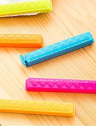 5 PCS Portable Family Tool Keep Innovation Of Food Fresh Plastic Bag Sealing Clip (Random Color)