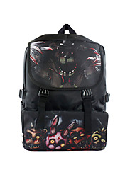 Cartoon Teddy Bear's Midnight Canvas Backpack