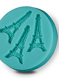 1 PCS DIY Cake Decorating Tools Eiffel Tower Cake Molds 3D Silicone Fondant Chocolate Mould Kitchenware Accessories