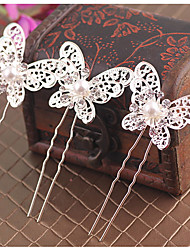 Mulheres Liga Imitação de Pérola Capacete-Casamento Ocasião Especial Clip para o Cabelo Cabelo da vara 20 Peças