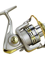 Baitcast-Rollen 5.5:1 12 Kugellager Austauschbar Seefischerei Köderwerfen Fischen im Süßwasser-Baitcast Reels