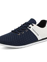 Herren-Sneaker-Sportlich-Tüll-Flacher Absatz-Komfort-Schwarz Blau Grau