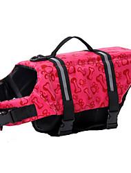 Cães Colete Salva-Vidas Rosa / Azul Claro Roupas para Cães Verão Osso Prova-de-Água