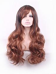 bouclés ombre perruque perruques synthétiques harajuku pelo synthétiques naturels perruques femmes résistent à la chaleur perruque