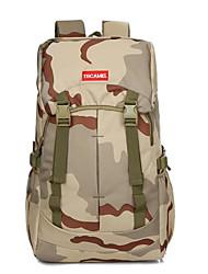 25 L sac à dos Camping & Randonnée Sport de détente Multifonctionnel Marron Tissu Anti-Déchirure 600D
