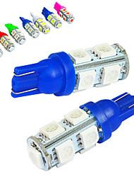 10pcs Jiawen / lot t10 1.2w 9x5050smd 85lm pour ampoule de voiture (DC12V)