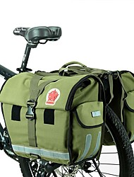 ROSWHEEL® Sac de Vélo 50LSac de Porte-Bagage/Double Sacoche de Vélo Etanche Vestimentaire Ceinture Ventrale Sac de CyclismeNylon Oxford