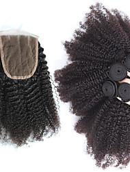 4 Stück Kinky Curly Menschliches Haar Webarten Malaysisches Haar Menschliches Haar Webarten Kinky Curly