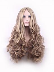 perucas sintéticas harajuku peruca encaracolado Perucas estilos de cabelo longos cabelos ombre peruca perucas sintéticas perruque mulheres