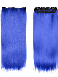 "Cheap Hair Product Synthetic Blue Hair 24""(60cm) 120g Clip In Synthetic Hairpiece Cosplay Hairpieces"
