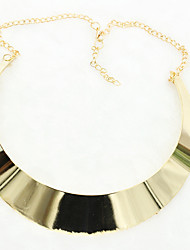 Women's Chain Necklaces Statement Necklaces Alloy Fashion Statement Jewelry Punk Silver Golden Jewelry Daily Casual 1pc