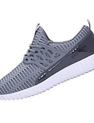 Running Shoes Men's Shoes Tulle / Rubber Athletic / Casual / Flats/ Casual Sneaker Flat Heel Others / Lace-up Black / Blue / Gray