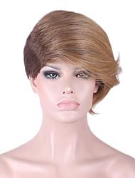 mais vendido da Europa e os Estados Unidos uma peruca dourada caráter marrom gradiente peruca de cabelo de 6 polegadas
