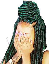 Green Dark Ombre Havana Mambo Faux Locs Braids 20 Strands Crochet Dreadlock Braids Hair Extensions Crochet Twist Braids