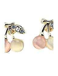 Earring Circle Jewelry Women Fashion Wedding / Party / Daily / Casual / Sports Alloy / Rhinestone / Opal 1 pair Gold