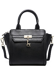 Lady Fashion Two Ways Design Multifunction Handiness Genuine Leather Shoulder Tote Bag