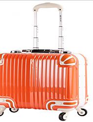 Unisex PVC Outdoor Luggage Orange / Black