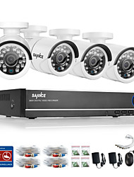 SANNCE® 4CH AHD DVR 4PCS 720P IR Cut Indoor Outdoor CCTV Camera Home Security Surveillance Kits CCTV System