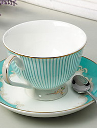 tasse de café bande plat cuillère ensemble