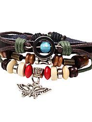 Fashionable Black 50cm Round Leather Bracelets